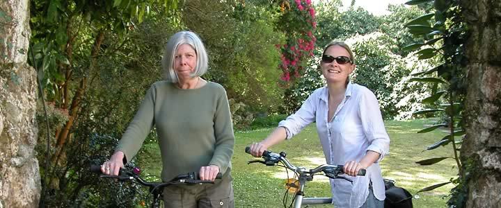 Two go cycling on the Camel Trail
